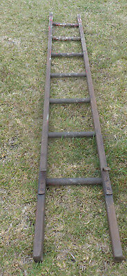Single Vintage Wooden Ladder, 7 Rungs, 241Cm Long, Solid