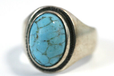 D365 Turquoise color glass  Sterling 925 Ring size 7 1/2