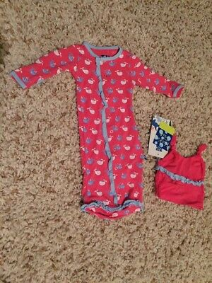 NWT Newborn Winter Rose Whale Layette Sack With Hat