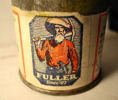 """Old Fuller Paint Co. Tiny Tin 1 Oz """"bronze Powder"""" Gold Miner Pic Contents"""