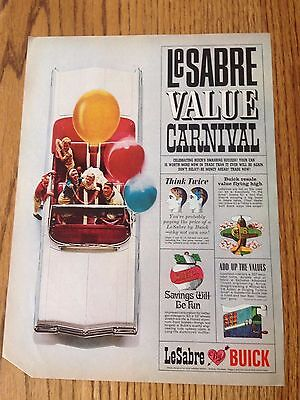 1963 Buick LeSabre Value Carnival. With Rath Black Hawk Bacon Ad on reverse.