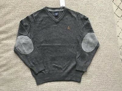 NWT BABY GAP Boys Charcoal Gray V-Neck Sweater - Size 5