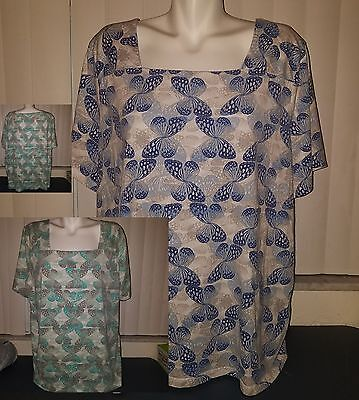 Shirts large 2 x coral bay butterflies small lot B7