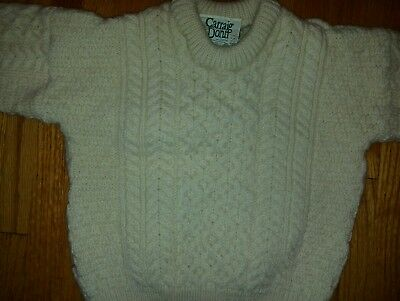 Carraig Donn Kids Irish Made Wool Sweater Size Large
