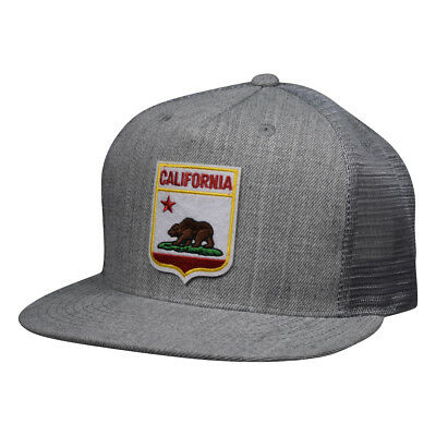 Vintage Patch Lake Tahoe Trucker Hat by LET/'S BE IRIE Heather Gray Snapback