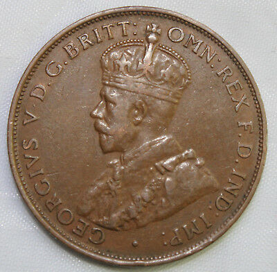 1933 KGV AUSTRALIAN PENNY - EF?? -   Circulated Coin - GREAT INVESTMENT