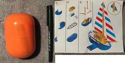 Kinder Surprise Large Sail Boat Toy - New in Egg