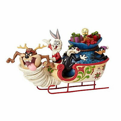 Jim Shore Skulptur - Sleigh Ride - Schlittenfahrt - Enesco Looney Tunes 4052811