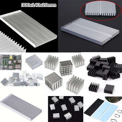 8.8mm-300mm Aluminum Heatsink Heat Sink Thermal Cooling Fin Blade 2-Color CPU IC