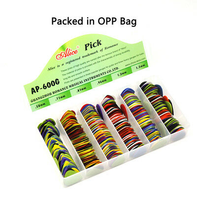 Lots of 100pcs Alice AP-G Projecting Nylon Guitar Picks Anti-Slip Mixed Colors