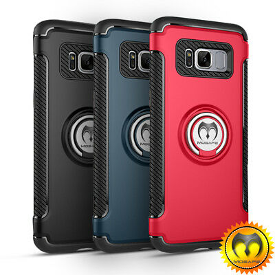 For Samsung Galaxy Note 8/S8+Plus Shockproof Ring Holder Armor Rugged Case Cover