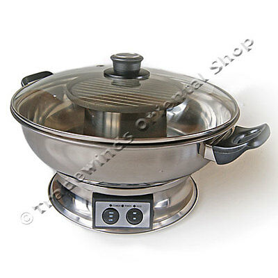 Mastarcook Electric Hotpot With Bbq Grill