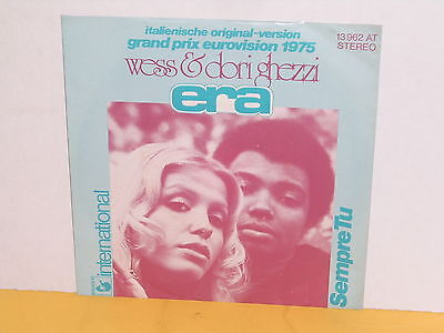 "Single 7"" - Wess & Dori Ghezzi - Era - Grand Prix Eurovision 1975"