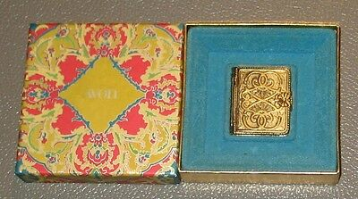 Vintage 1970's Avon Solid Perfume Gold Tone Holders w/ Box Book