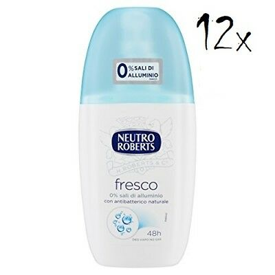 12x NEUTRO ROBERTS blue fresh Fresco Deo deodorant Vapo Natural Spray  75ml