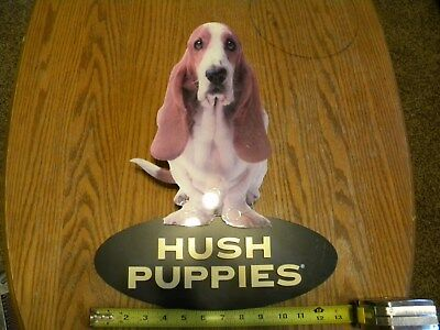Vintage Hush Puppies Shoe Store 3D Lucite Wall Sign