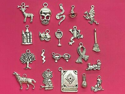 Tibetan Silver Harry Potter Themed Mixed Pack of Charms 20 per pack