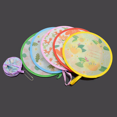 Cute Foldable Small Round Hand Fan Cooling Funny Pocket Portable Color Random
