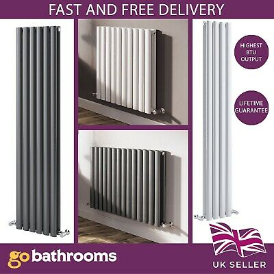 Vertical Designer Radiator Oval Column Tall Upright Anthracite Heating Radiators