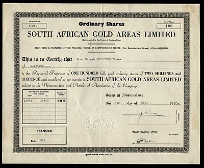 South African Gold Areas Limited