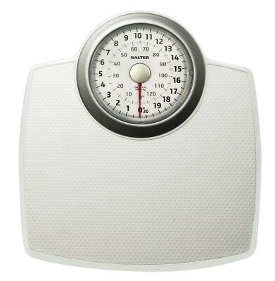 Salter Bathroom Scales With Extended View Mechanical Weight Scale White
