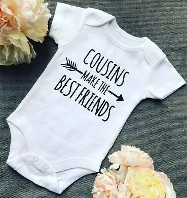 Cousins Make The Best Friends Baby Boy Girl Vest Romper Outfit Gift Arrow indian