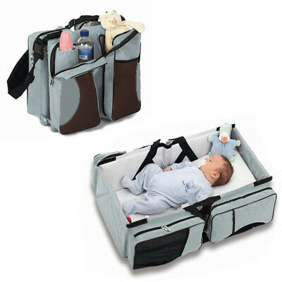 Baby Carry Cot Changing Bag Travel bag Changing Station 3 in 1 - Travel Bed Jade