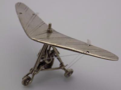 Vintage Solid Silver Italian Made Glider Miniature, Figurine, Stamped