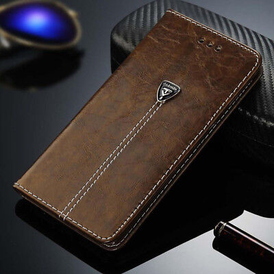 Luxury Magnetic Leather Case Flip Card Holder Wallet Cover For Samsung iPhone