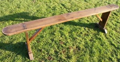 Pretty  Turn Of The  Century  Antique Solid Oak Bench