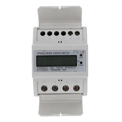 Energy Power Din Rail Kilowatt Hour Meter Single Phase Kwh Meter LCD 10(40)A