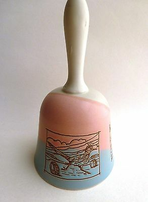 """Vintage COLLECTIBLE Ceramic BELL  Glorieta New Mexico Made in JAPAN 51/2"""""""