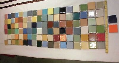 110 pcs.  Beautiful Red Clay Ceramic Tiles, Samples Colors by Fireclay-Tile Co.