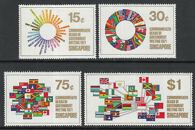 XG-G693 SINGAPORE IND - Flags, 1971 Commonwealth Meeting MNH Set