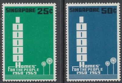 XG-AO326 SINGAPORE IND - Architecture, 1969 Homes For People, Buildings MNH Set