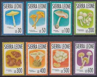 XG-AO021 SIERRA LEONE IND - Mushrooms, 1993 Nature, 8 Values MNH Set