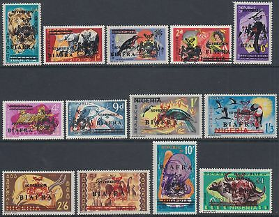 XG-AO182 BIAFRA - Definitives, 1968 Nigeria Overprinted, SG4/16 MNH Set