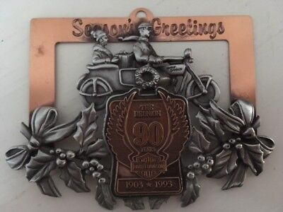 Limited Edition, Numbered, 1993, Harley-Davidson Pewter Ornament 90Th Anniv.
