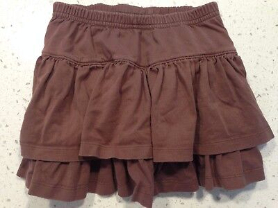 Hanna Andersson Girls Two Tiered Skirt Size 110 4-6 Brown Thanksgiving outfit