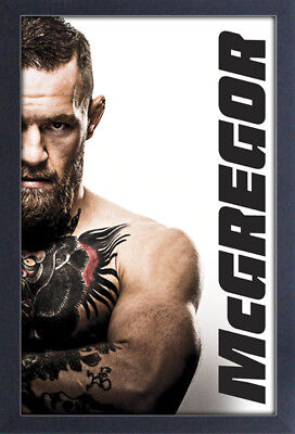 CONOR MCGREGOR 13x19 FRAMED GELCOAT POSTER UFC MMA NOTORIOUS IRISH FIGHT CHAMP!!