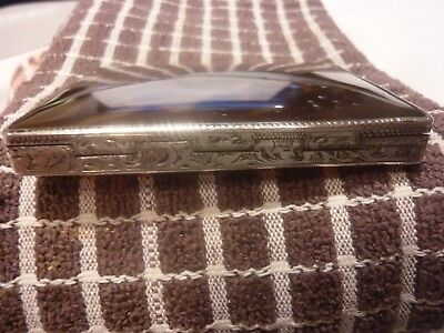 Stunning  Faux Tortoise Shell Card Case  White Metal/Silver