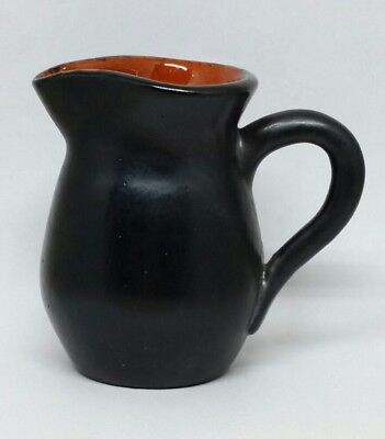 Primitive American Style Redware Creamer By James Seagraves Signed