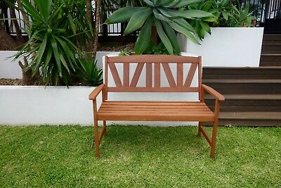Timber Bench 2 Seater Outdoor Wooden Garden Bench