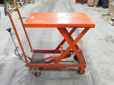NORTHERN INDUSTRIAL TOOLS HYDRAULIC SCISSOR LIFT TABLE DIE CART, 700 lb CAPACITY
