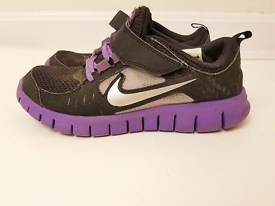 watch e3b30 20812 Nike Free Run 3 (PSV) Spark Reflect Silver Purple Black Size 3Y Running