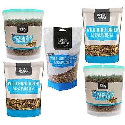 Bird Feed - DRIED MEALWORM - Pack Size Choices - 80g - 100g - 400g - 500g - 1kg