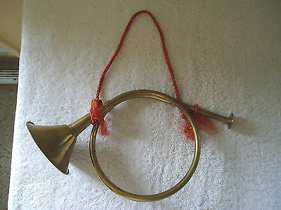 """Vintage Brass French Horn Hanging Ornament """" GREAT COLLECTIBLE iTEM """""""