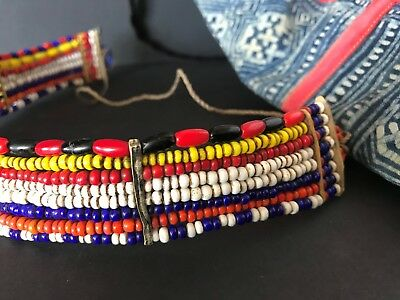 Old African Beaded Headband / Neck Choker …beautiful & colourful collection...