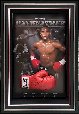 Floyd Mayweather Hand Signed Framed Boxing Glove With Certificate #real Deal #