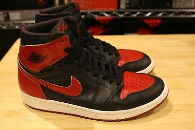 dbbebd8a919 1994 Nike Air Jordan 1 I Retro High Bred Black Red Size 7 Vintage 90s Off